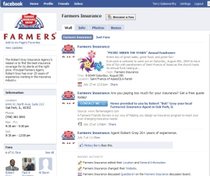 Farmers Insurance 'unofficial page'
